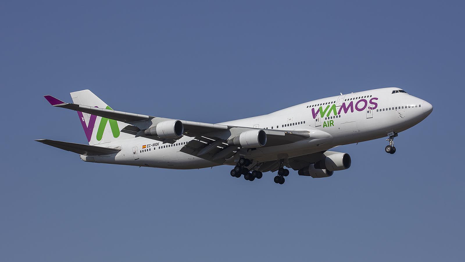 Ebenso wie diese Boeing 747 der spanischen Wamos Air.