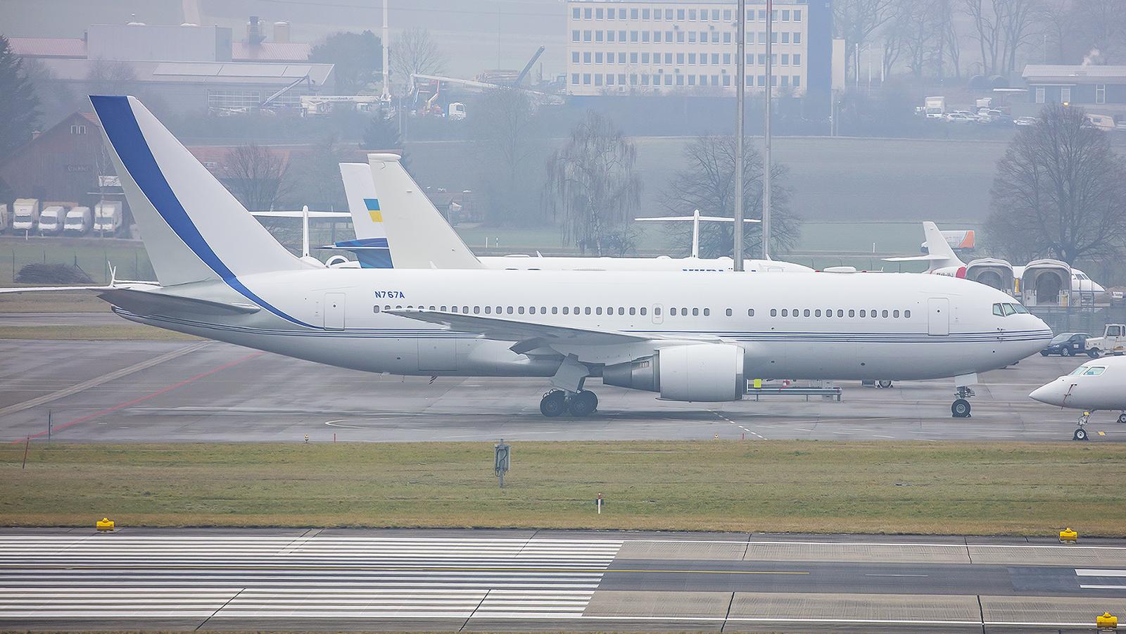 Sah auch schon mal bunter aus, die Boeing 767 der Saudi Aramco.
