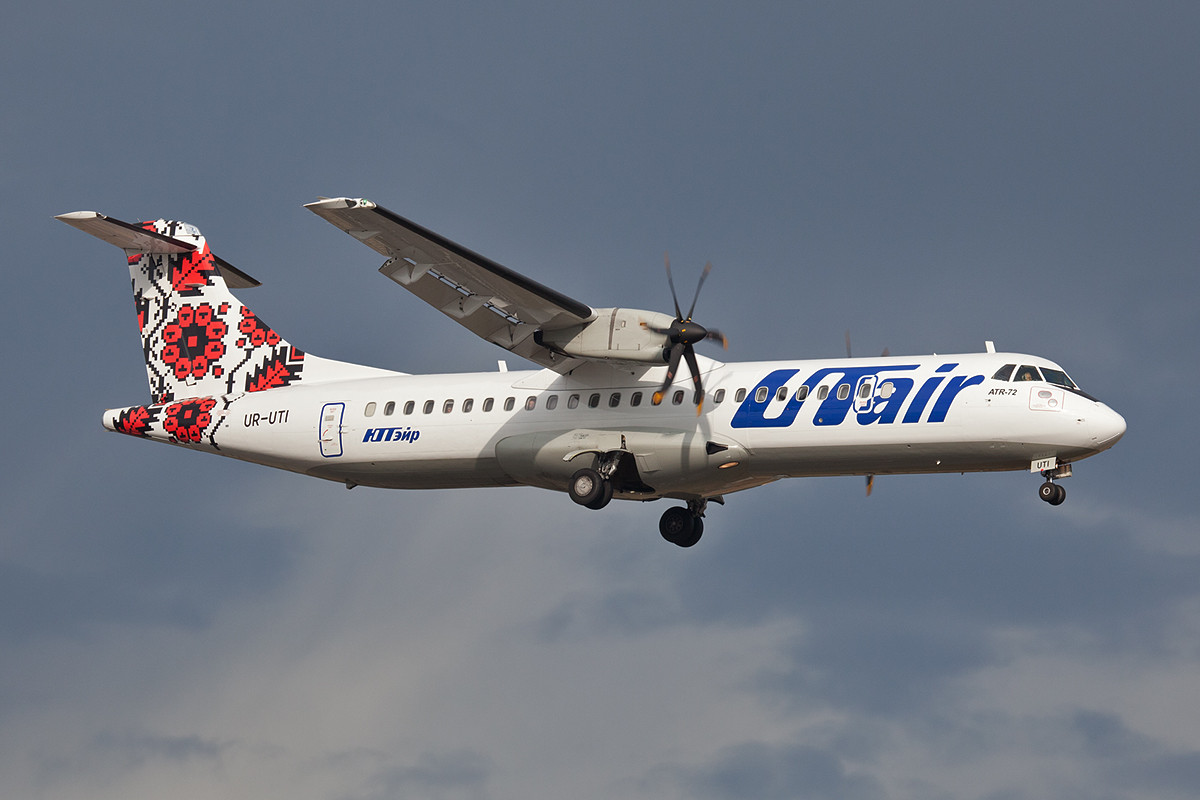 Auch ATR-72 finden sich im Kurzstreckennetz der UTAir.