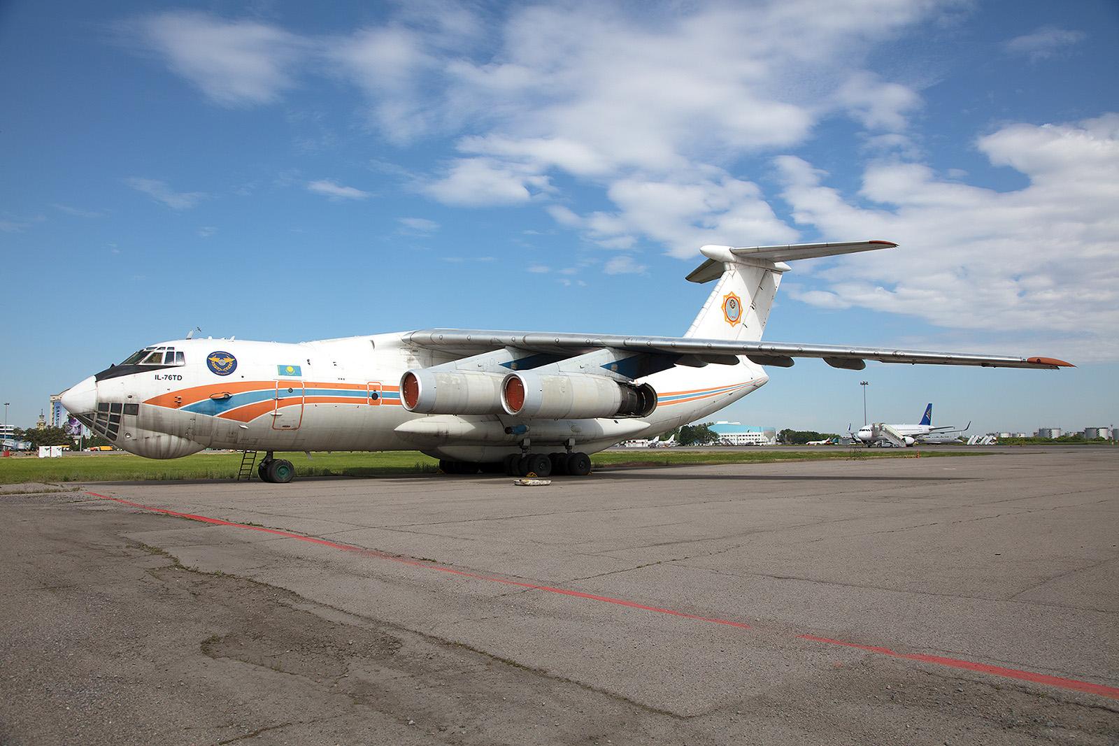 Die Ilyushin Il 76TD des Ministeriums für Katastrophenschutz.