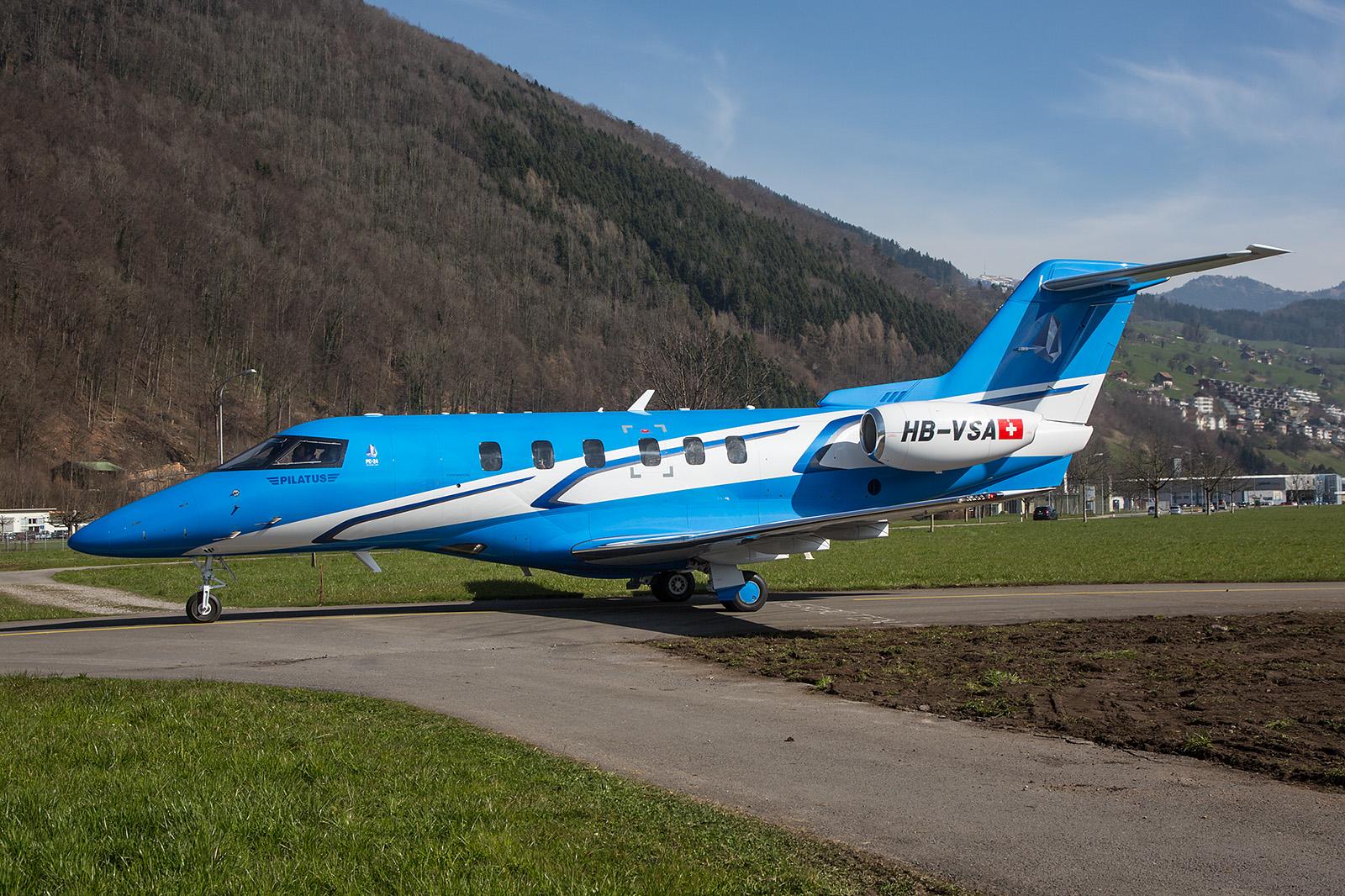 Der Prototyp des PC-24 Jets. Einer der ersten Kunden wird der Flying Doctor Service in Australien sein.