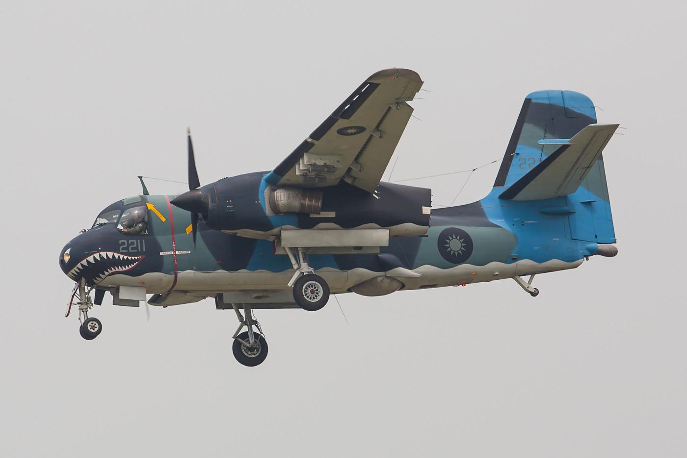 Mittlerweile sehr selten geworden sind die S-2T Tracker von Grumman. Heute gehören die Maschinen der Air Force, beschafft wurden sie jedoch einst für die Marine.