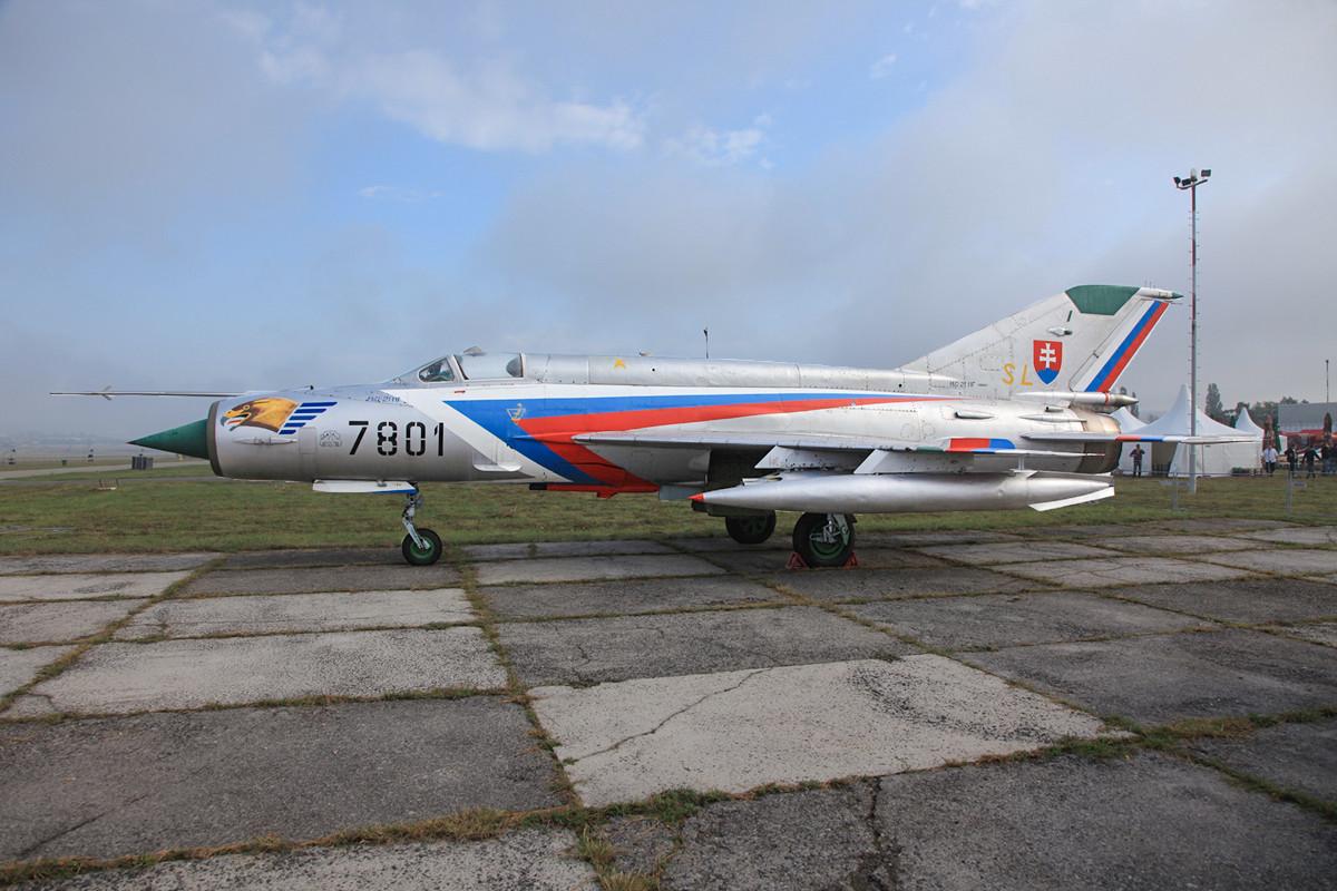Eine der alten MIG-21MF