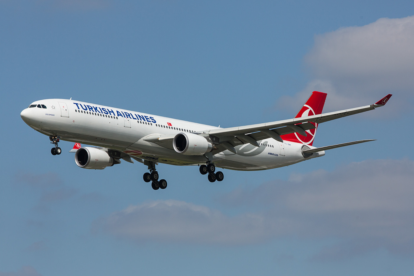 Turkish Airlines A 330 aus Istanbul.
