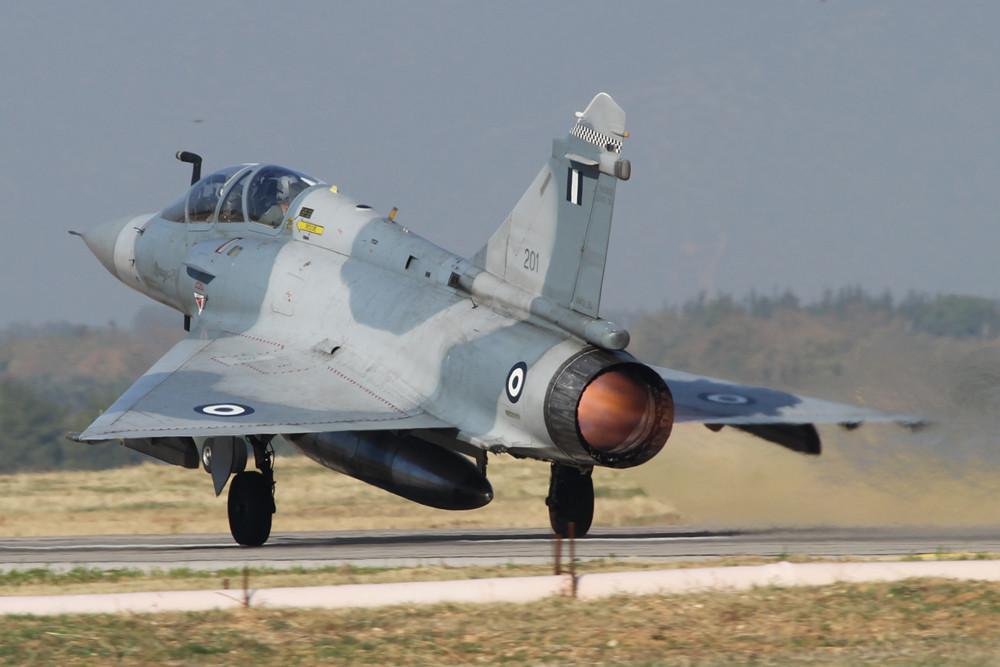 Der erste Start des Tages, Mirage 2000B