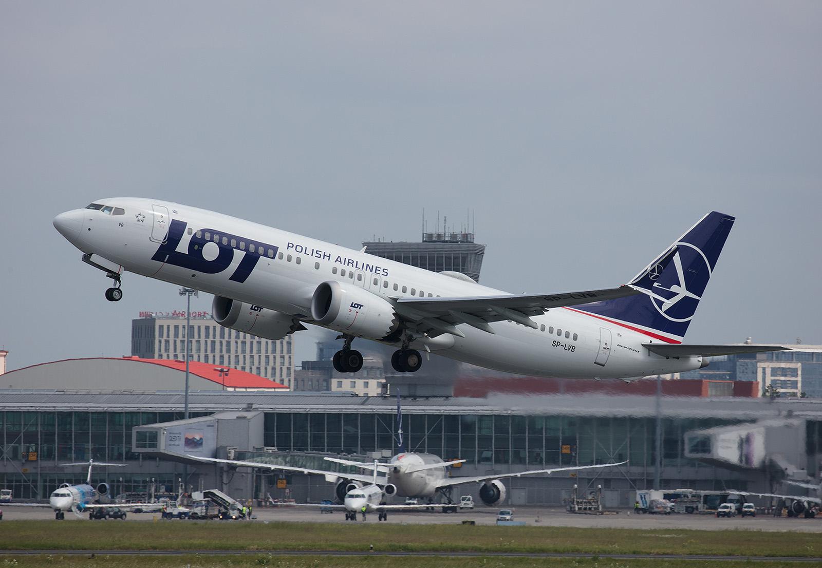 Der neueste Flottenzugang in der LOT ist die Boeing 737 MAX8.