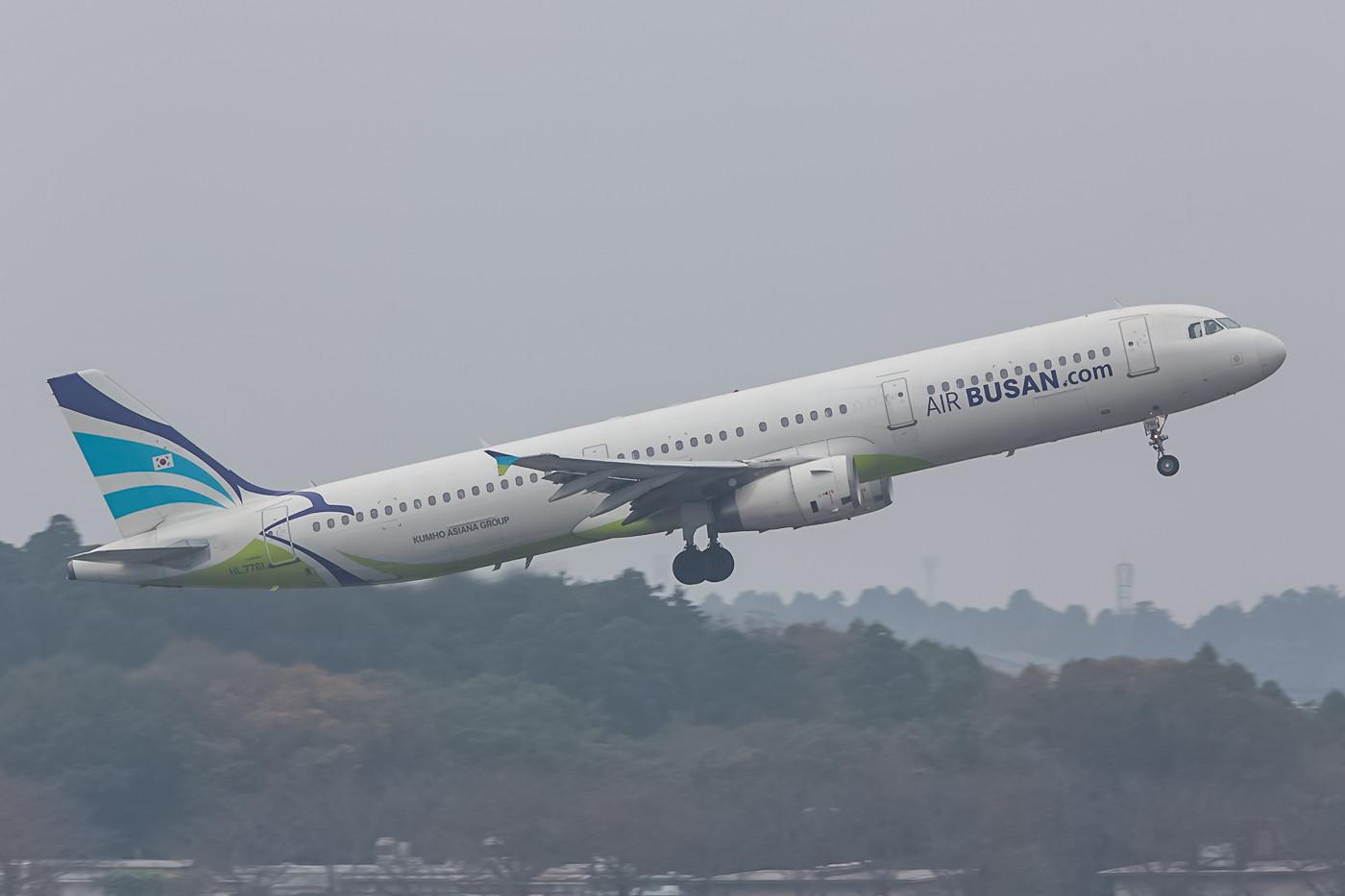 Eine weitere Airline aus Korea ist die Air Busan, die mit A 321 täglich Narita ansteuert.