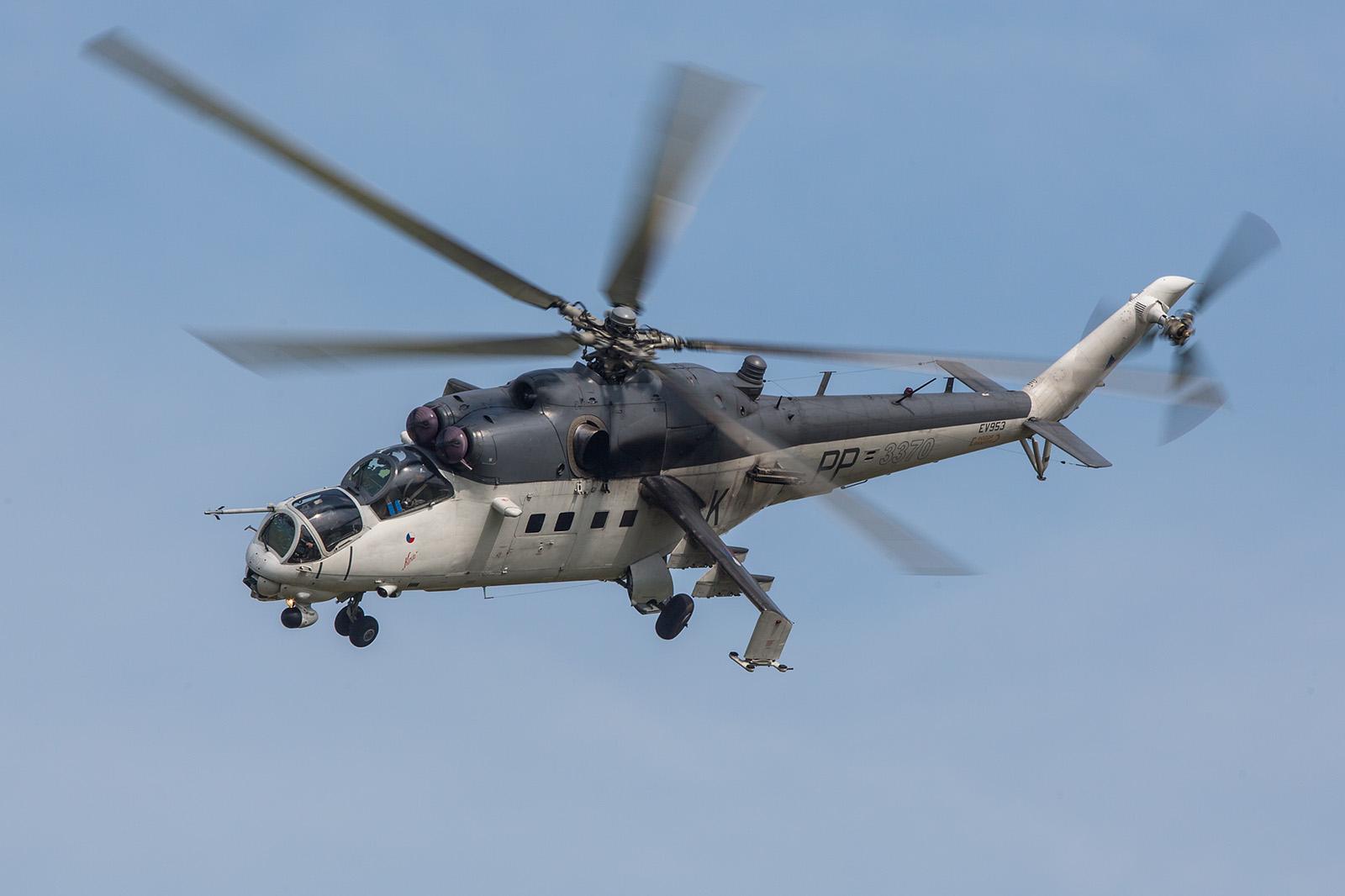 Die Mi-35 3370 im Display.