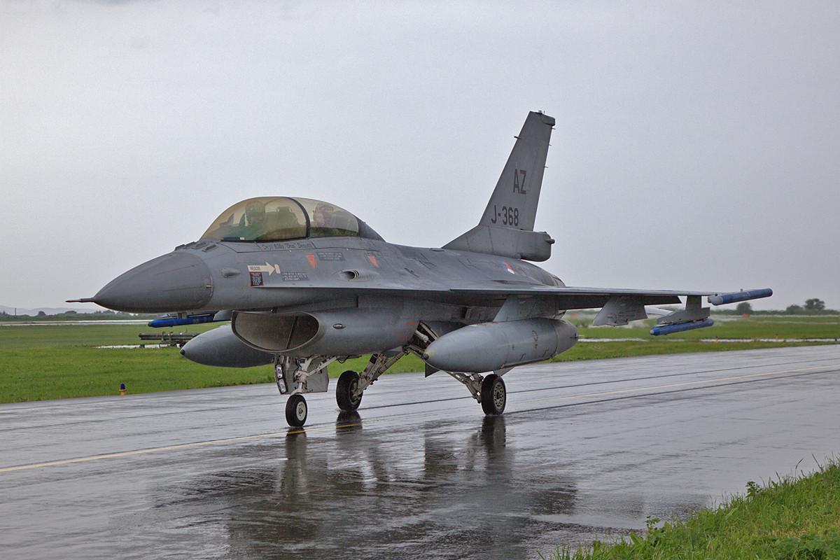 Als Gast über das Wochenende kam diese F-16B von der 148th FS aus Tucson, AZ.