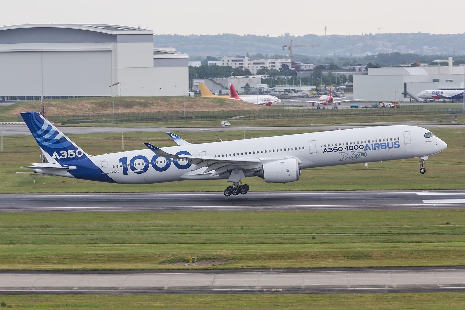 Die drei Prototypen der A350-1000 sind praktisch täglich in der Luft.