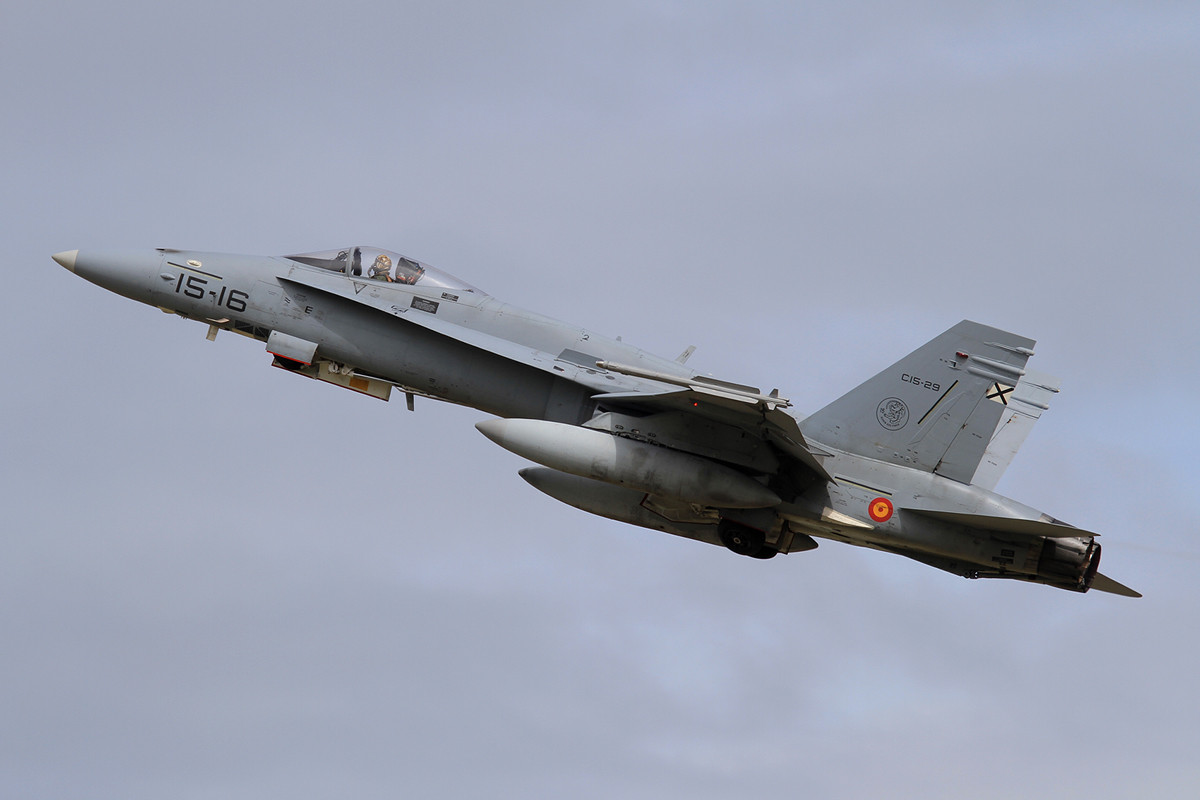 EF-18A+, die Maschinen erhielten in den letzten Jahren ein Upgrade.