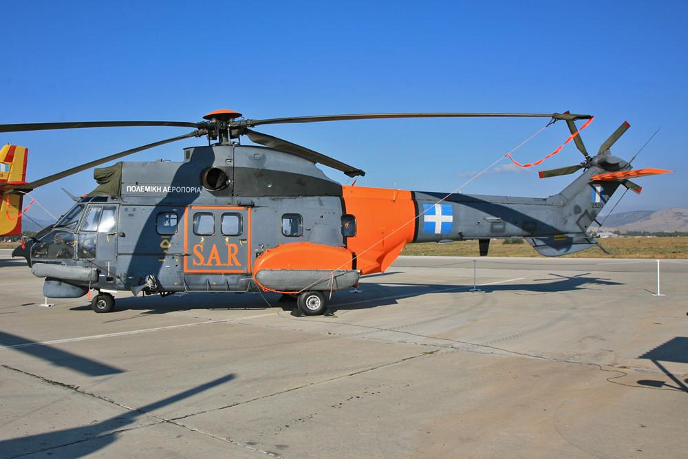 Super Puma, ausgestattet für den Einsatzt auf See.