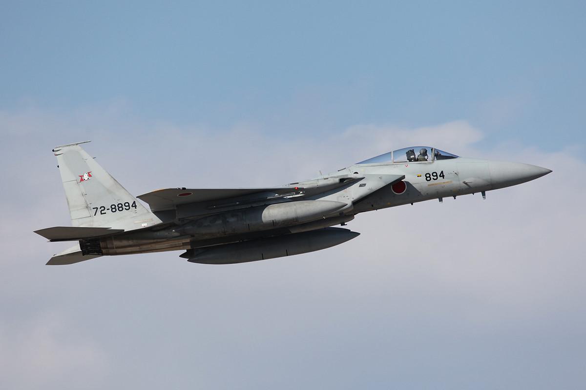 3000 km von daheium, F-15J der 203 Hikotai aus Sapporo-Chitose