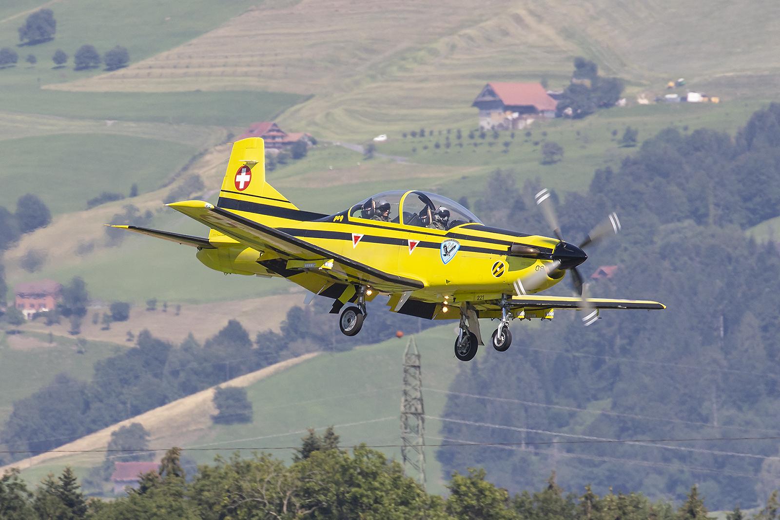 Eine der letzten Pilatus PC-9.