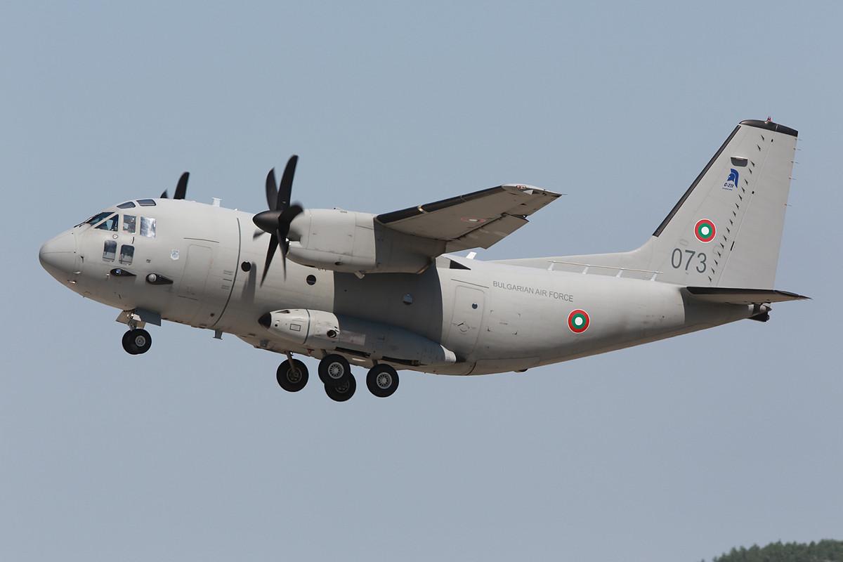 Das Begleitflugzeug war eine C-27J Spartan aus Sofia