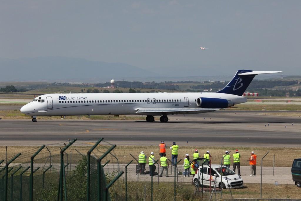 Eine der MD-83 von Blue Line aus Frankreich auf einem Einzelcharter.