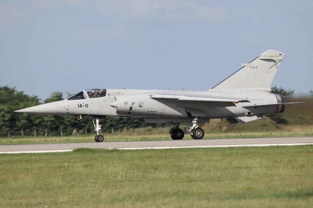 Die Mirage F-1 aus Albacete.