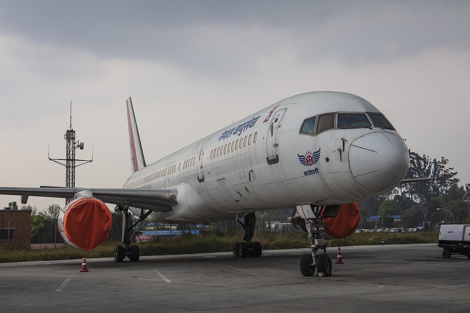 Eine der beiden Boeing 757 der Nepal Airlines. Früher flog sie auch mal nach MUC.