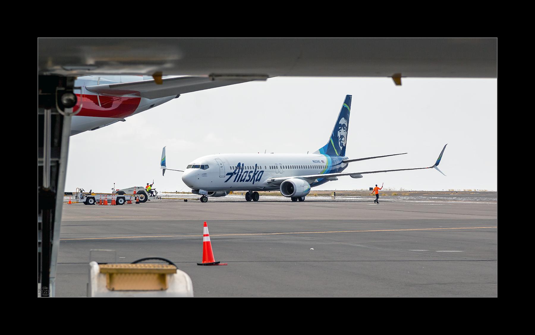 Boeing 737-890 von Alaska Airlines.