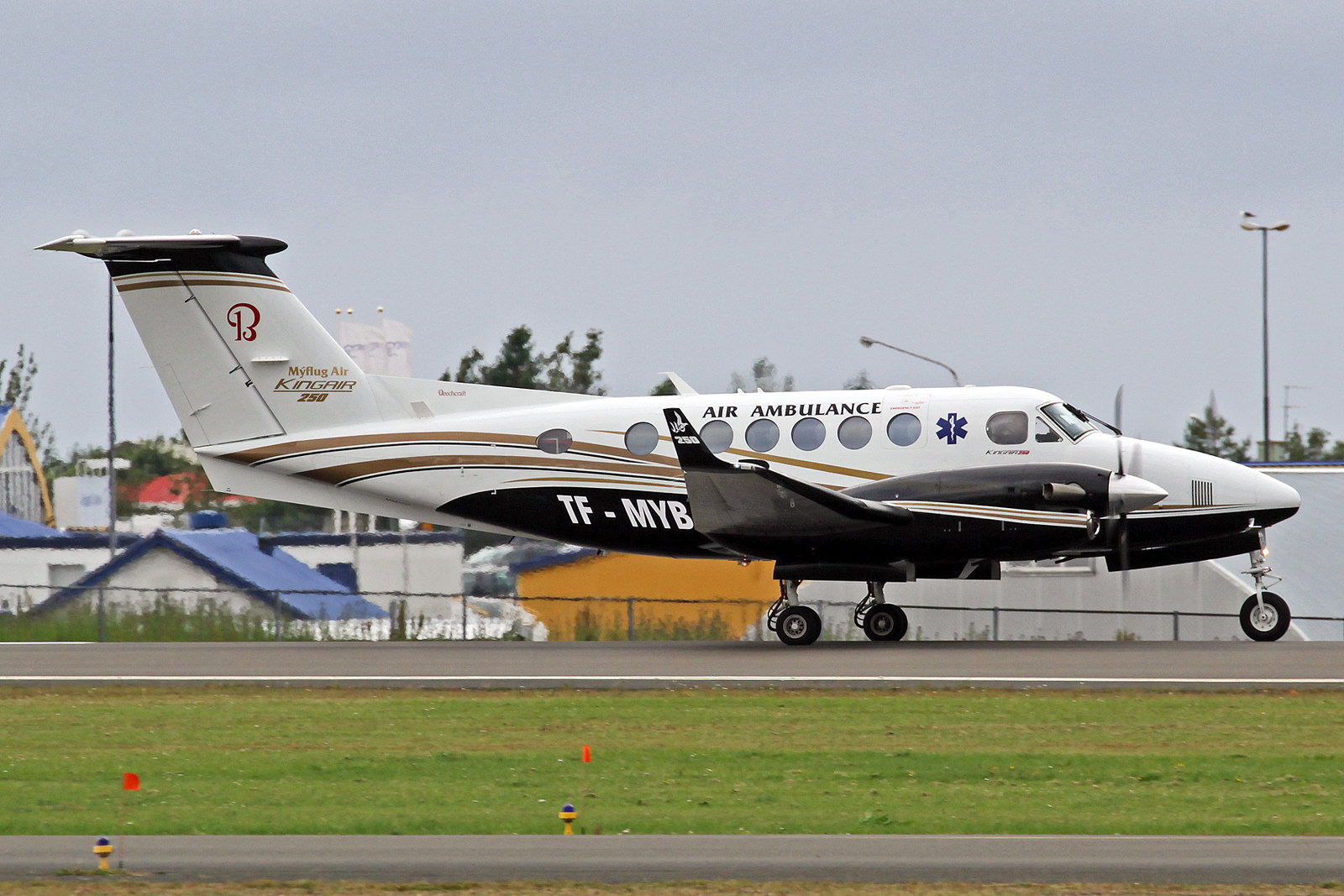 Mýflug Air Beechcraft B250 King Air TF-MYB, RKV, 10. August 2020