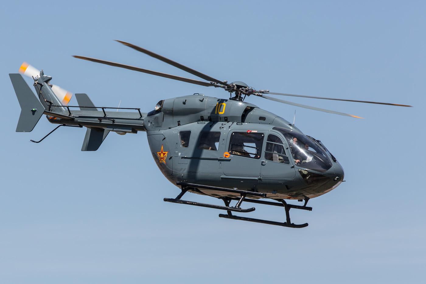 Die Airbus H-145 dienen in der kasachischen Luftwaffe als leichter Transport- und Verbindungshubschrauber.