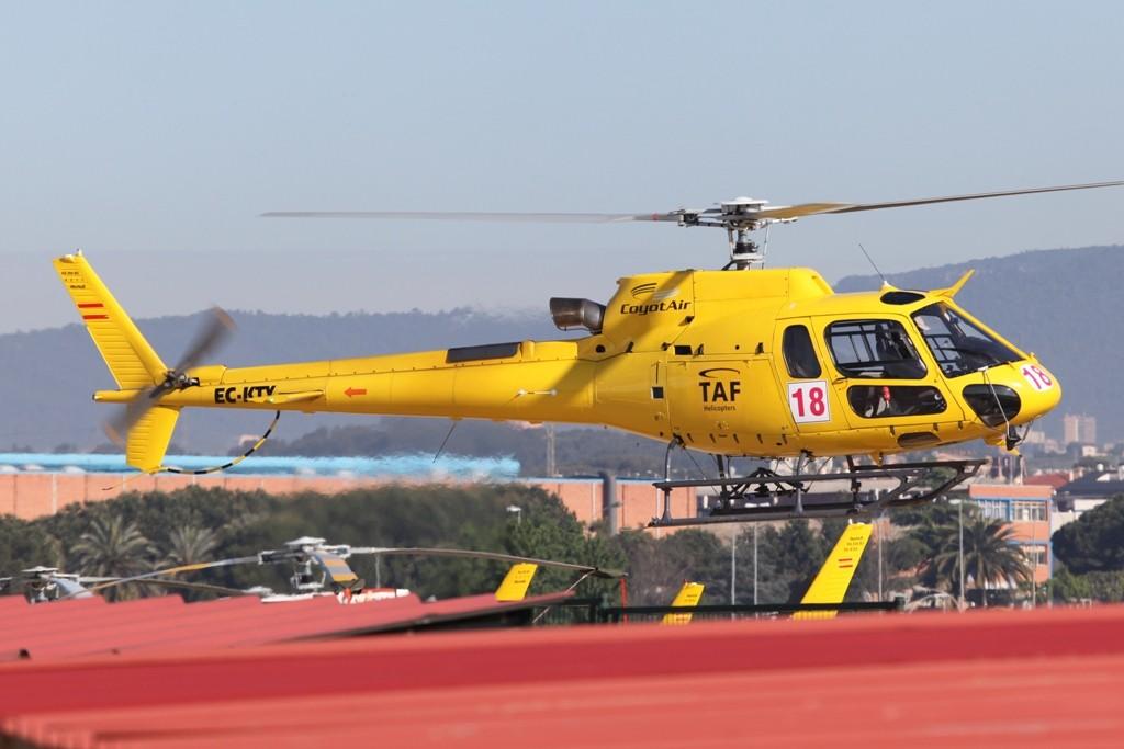 Die Hubschrauber dienten am Rennwochenende als VIP-Shuttle.