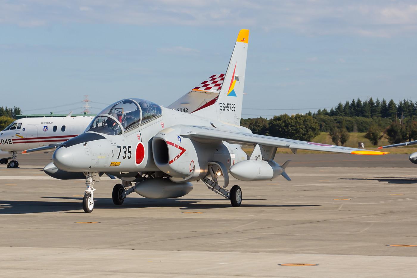 In Iruma sind eine beachtliche Zahl von T-4 bei der Hireibu Hikotai stationiert.