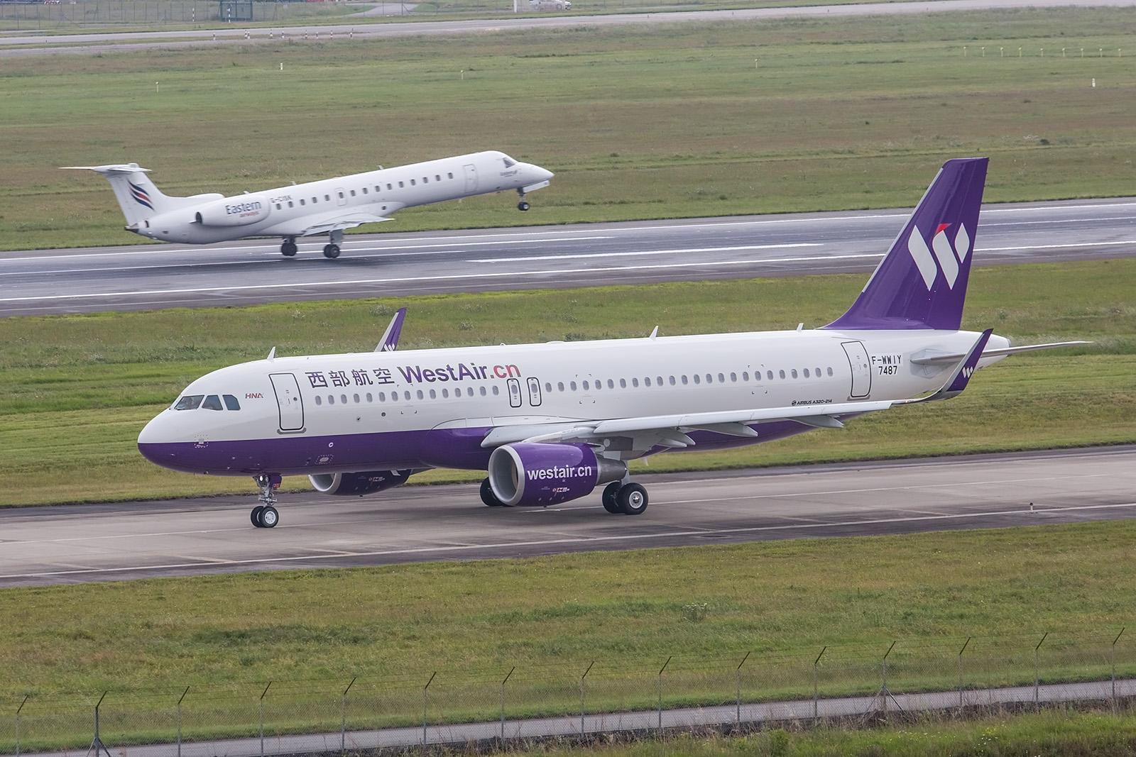 A320 für Westair, einem Tochteunternehmen der HNA Group.