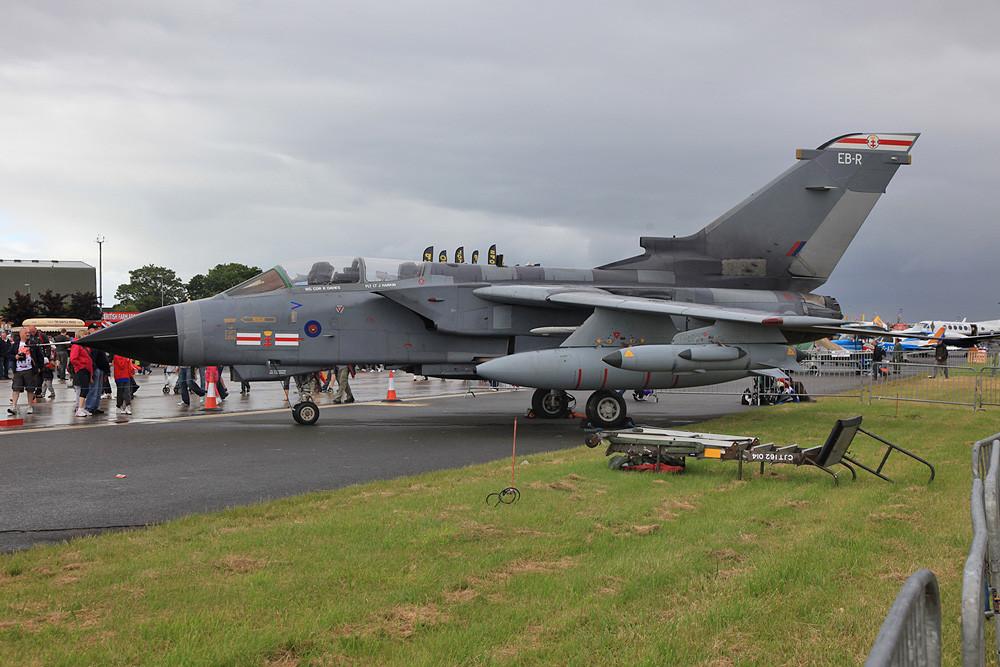 Der britische Jagdbomber, der Tornado GR.4.