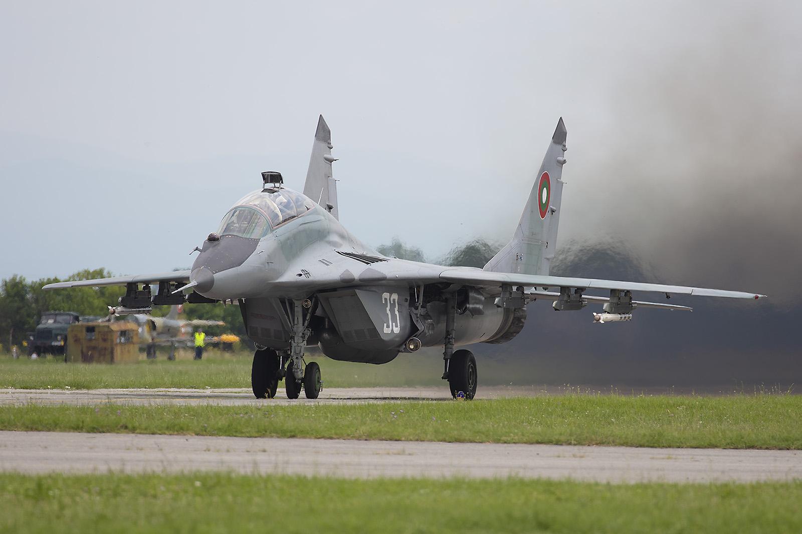 Einer der Stars am Himmel seit drei Jahrzehnten, die MiG-29 Fulcrum.