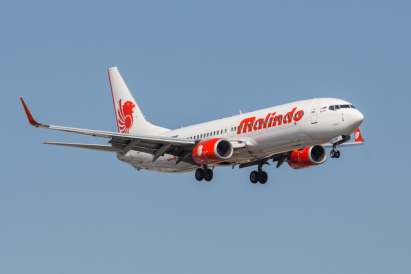 Boeing 737-800 der Malindo, einer Marke der Lionair Group.