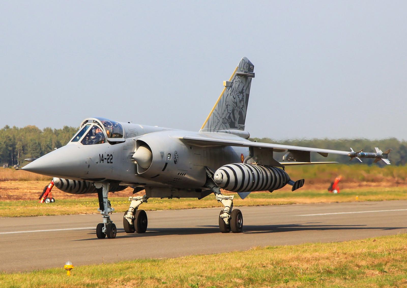 C.14-41, Mirage F-1M, auch eine ehemalige F-1C. Taxiing beim NTM 09 in Kleine Brogel.