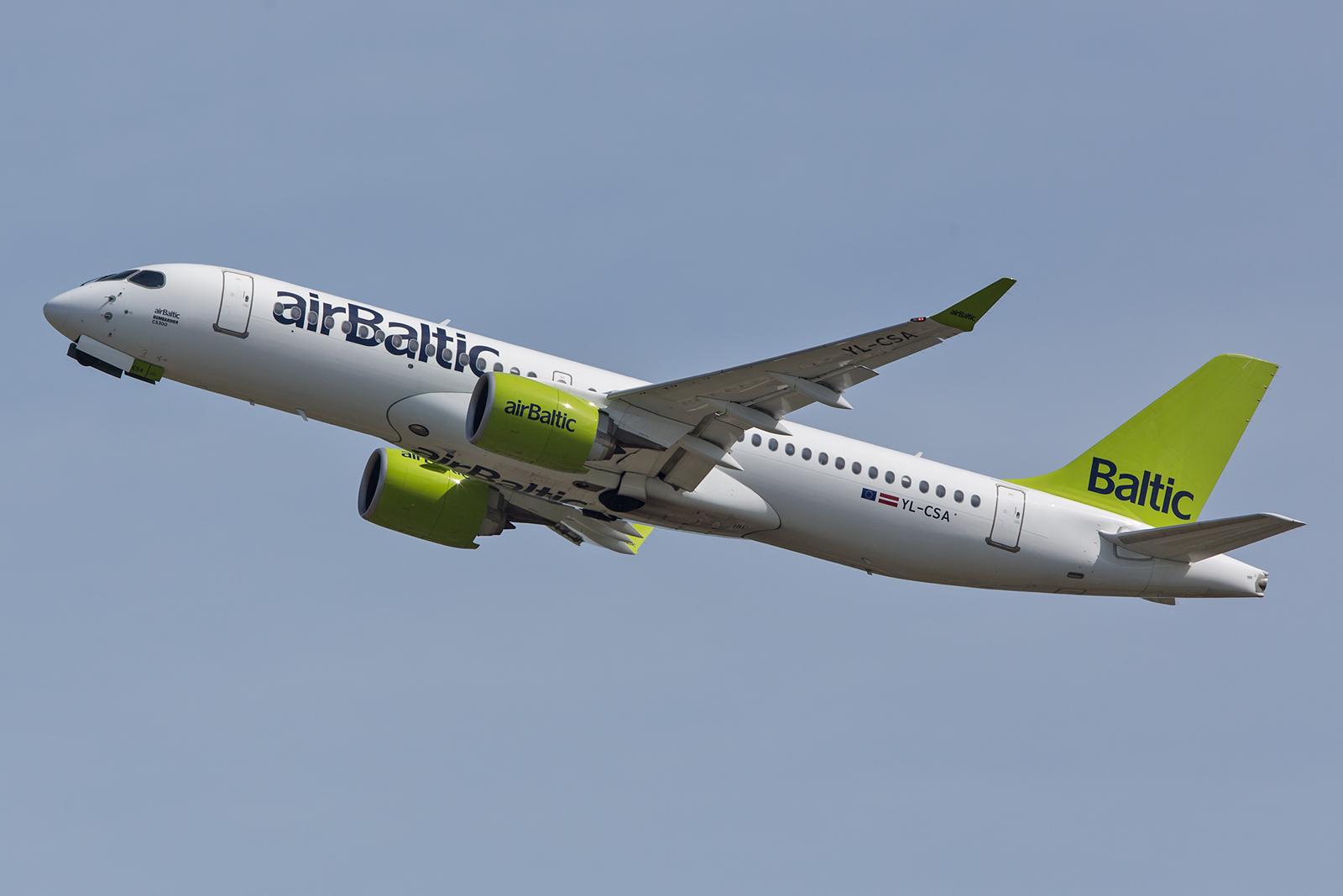 Air Baltic war Erstkunde für die CS 300, hier auch mein erstes Bild dieses Typs.
