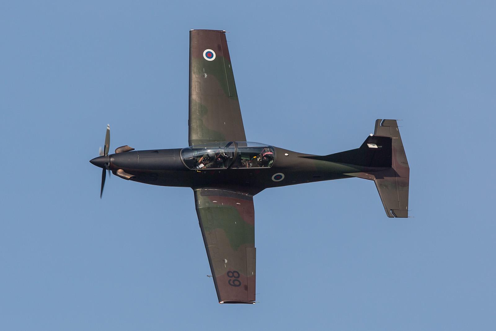 Auch in Ostrava gab es die PC-9 der Slowenischen Luftwaffe.