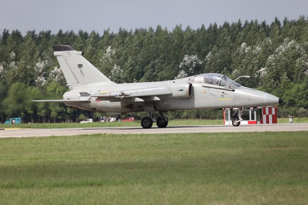 Ein AMX der Aeronautica Militare aus Treviso-Istrana.