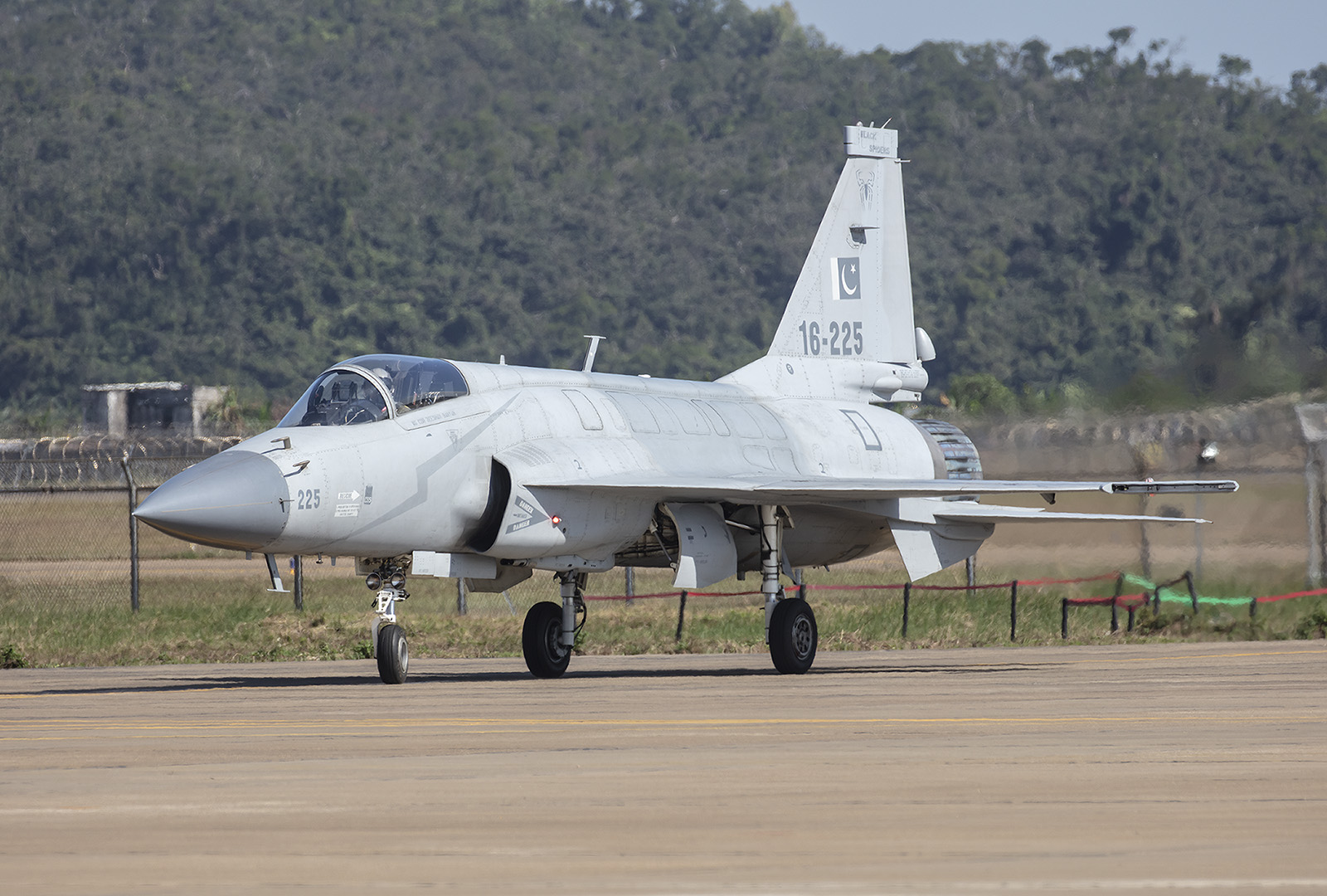 Der JF-17 nach der Landung.
