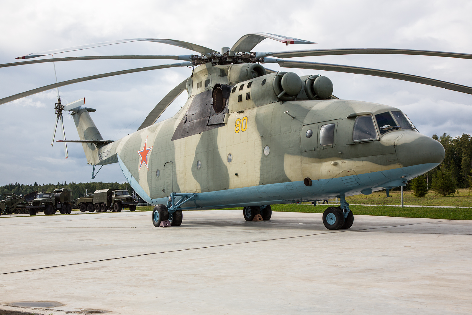 Der Transporthubschrauber Mil Mi-26.