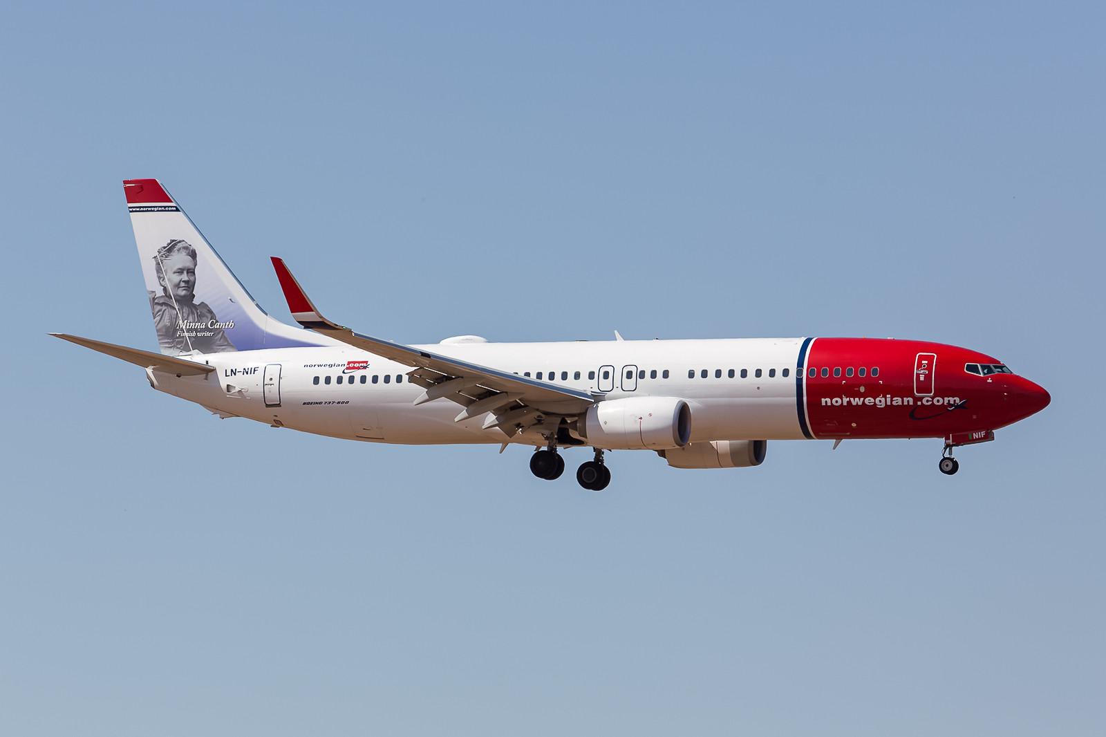 Auch sie sind in Marrakesch vertreten, die Boeing 737-800 der Norwegian.