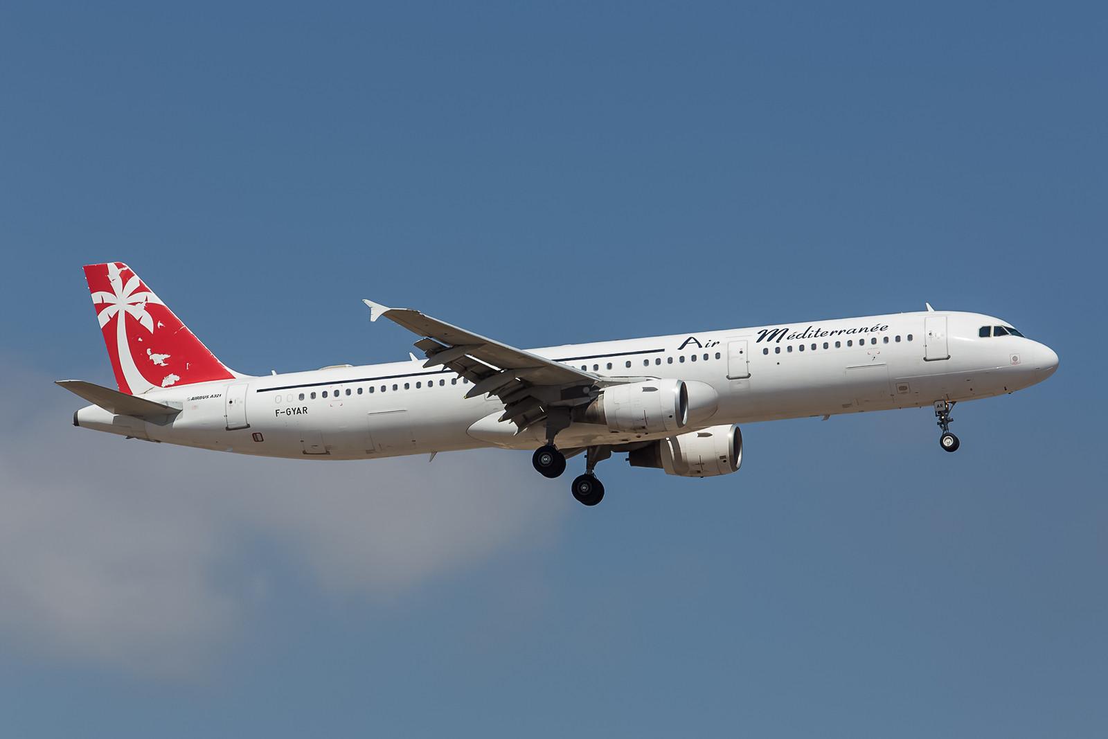 Dieser Airbus A321 wurde 1998 mal für die Swissair gebaut.