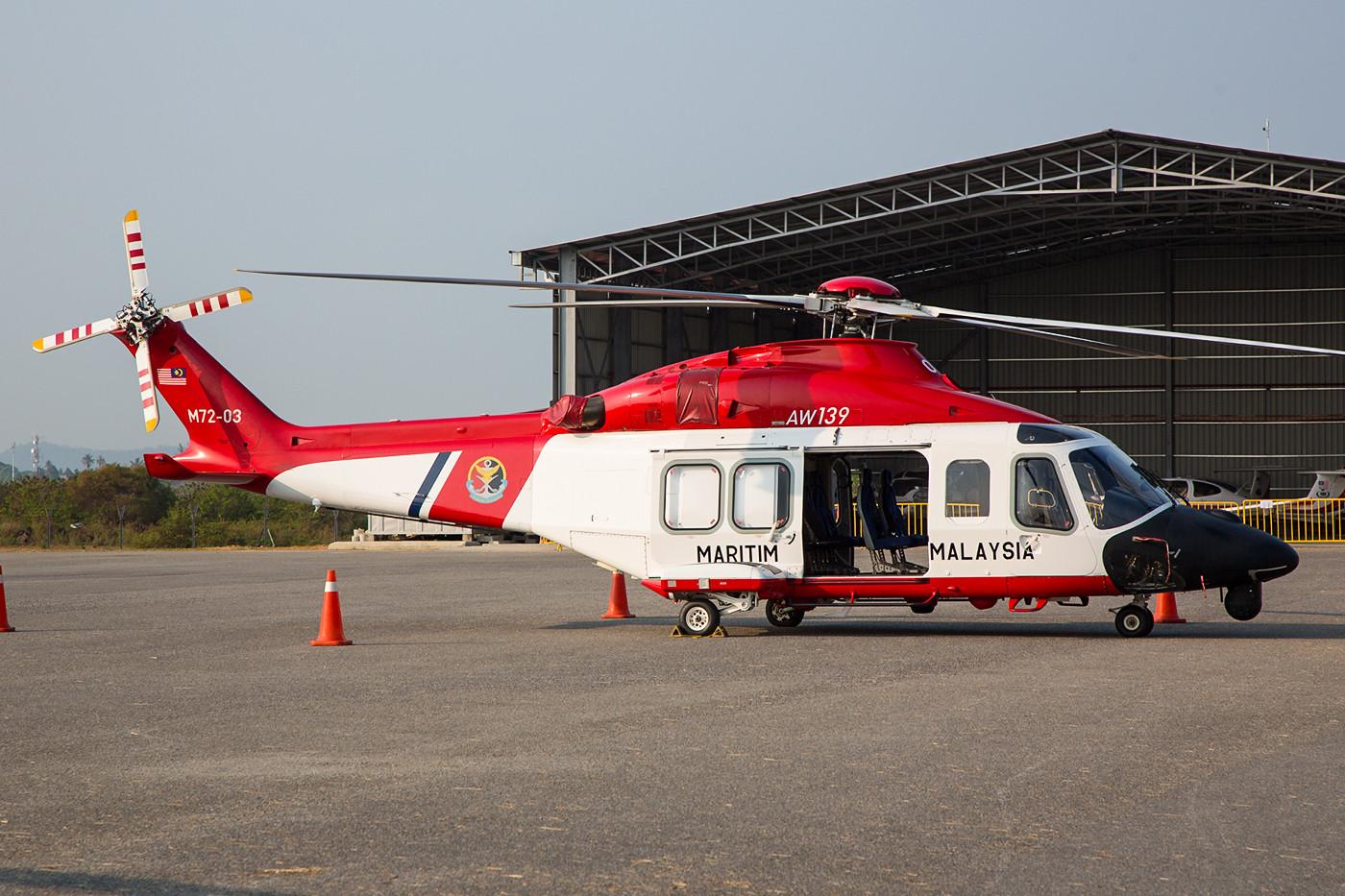 Ebenfalls von der Coast Guard stammt diese Agusta Westland AW-139.