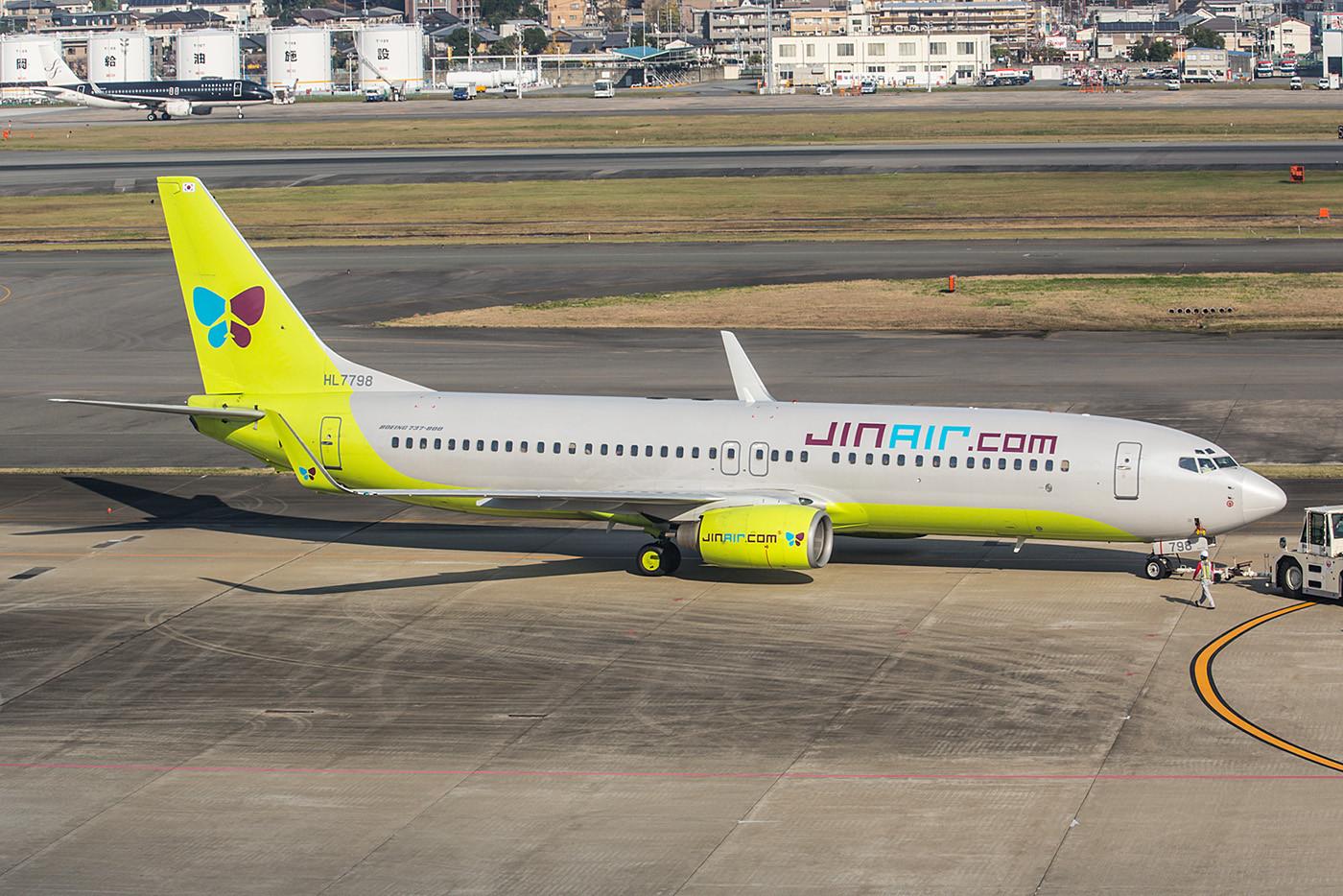 Die Lowcostairline JIN Air gehört der Korean Airlines und hat eine reine Flotte an Boeing 737-800.