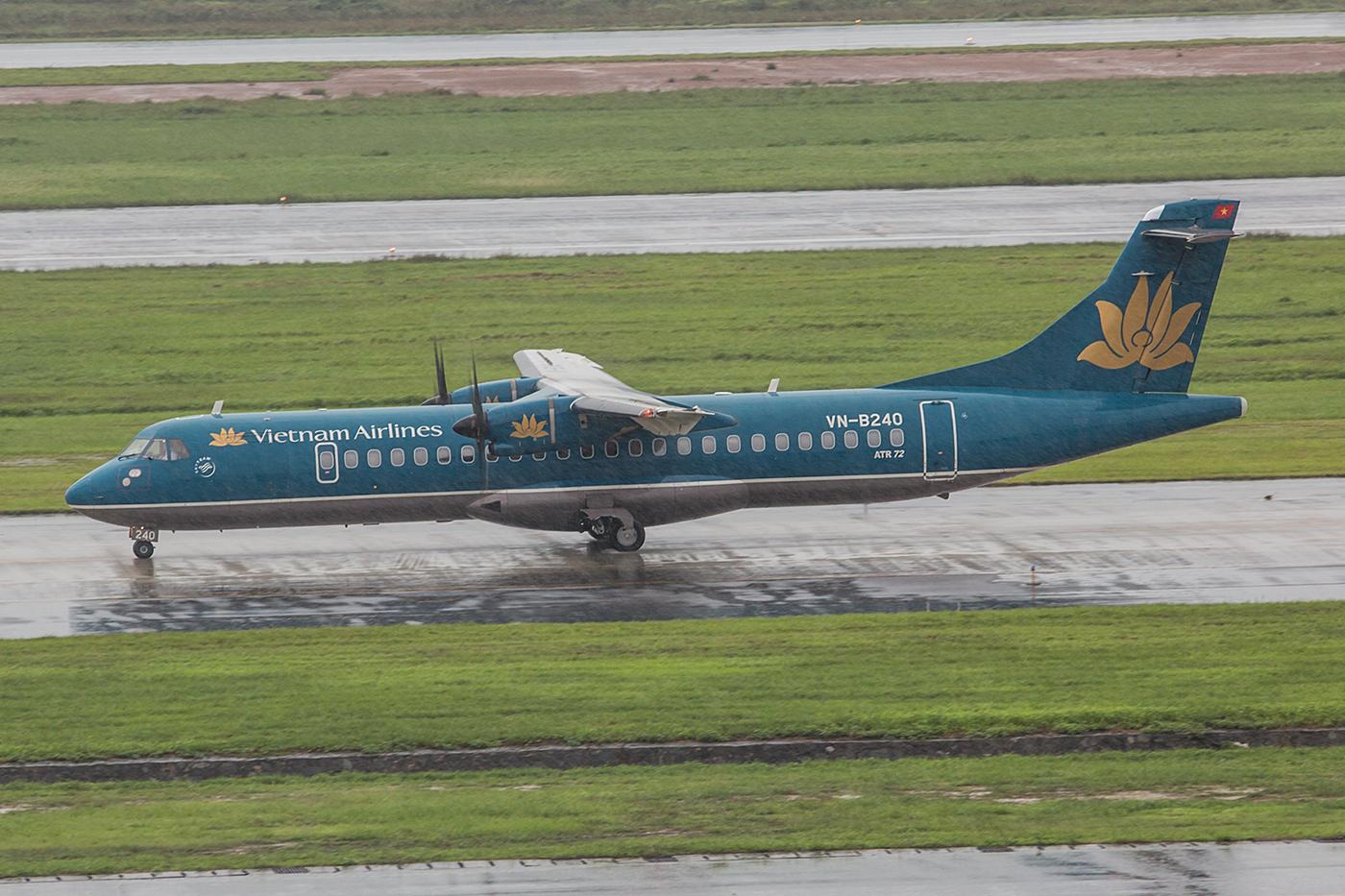 Auch ab Hanoi verkehren einige ATR72 auf kurzen Strecken.