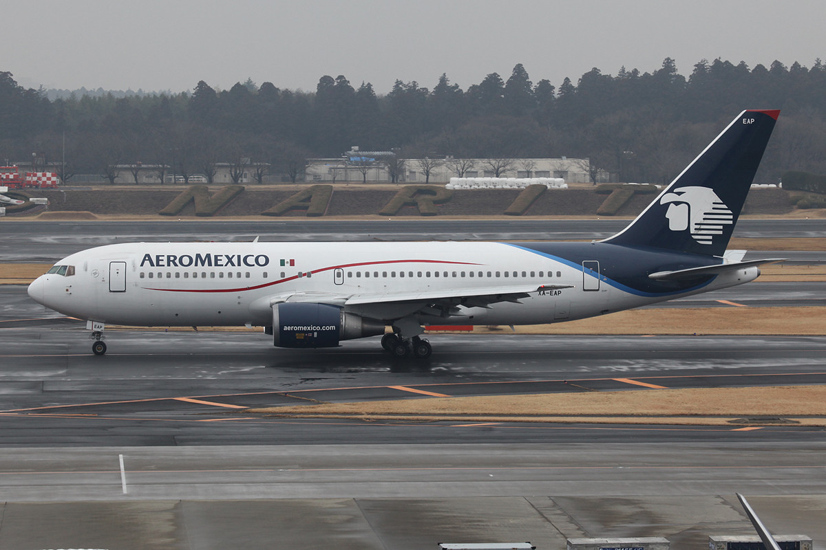 Boeing 767-200 der Aeromexico.