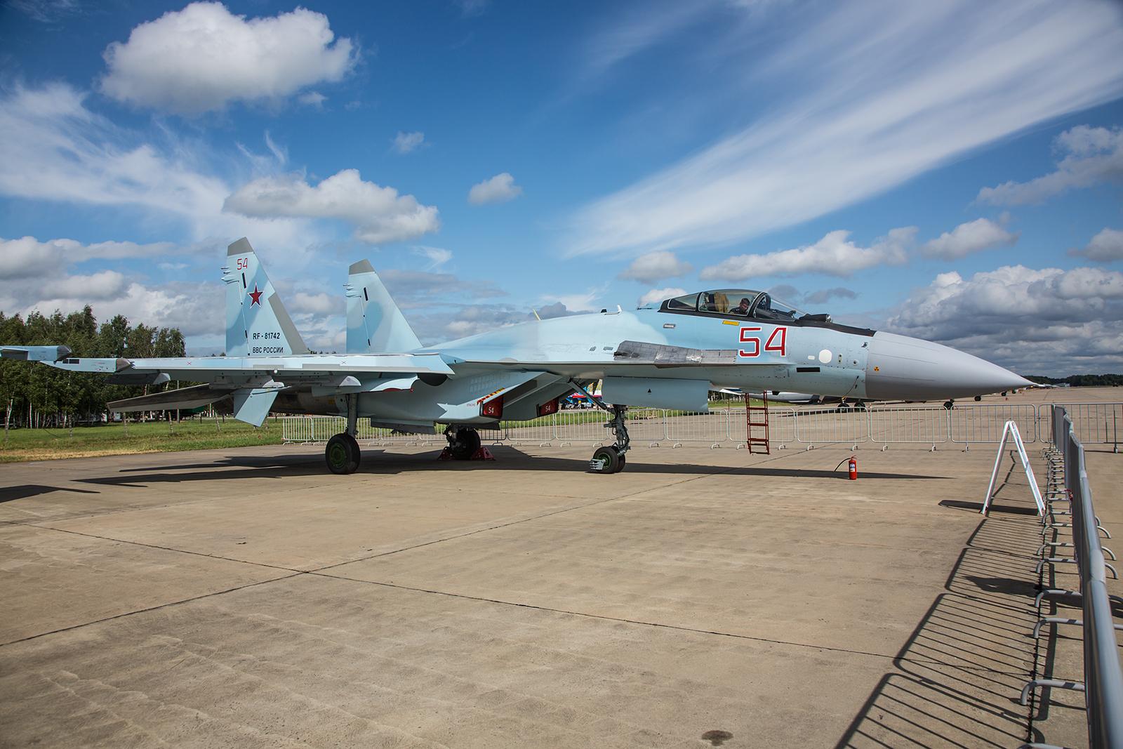 Das derzeit modernste Einsatzmuster der BBC, die Sukhoi Su-35C.