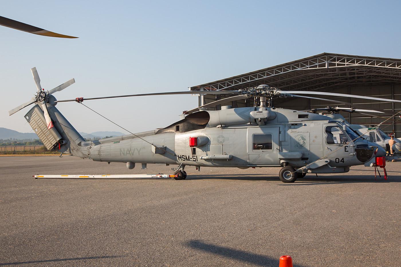 MH-60R von der Naval Air Station in Atsugi (Japan), wo ich den gleichen Hubschrauber erst im November fotografiert hatte.