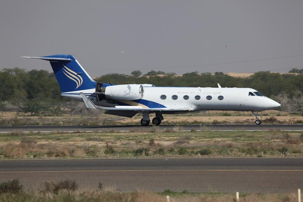 Eine Gulfstream G IV der Royal Jet.