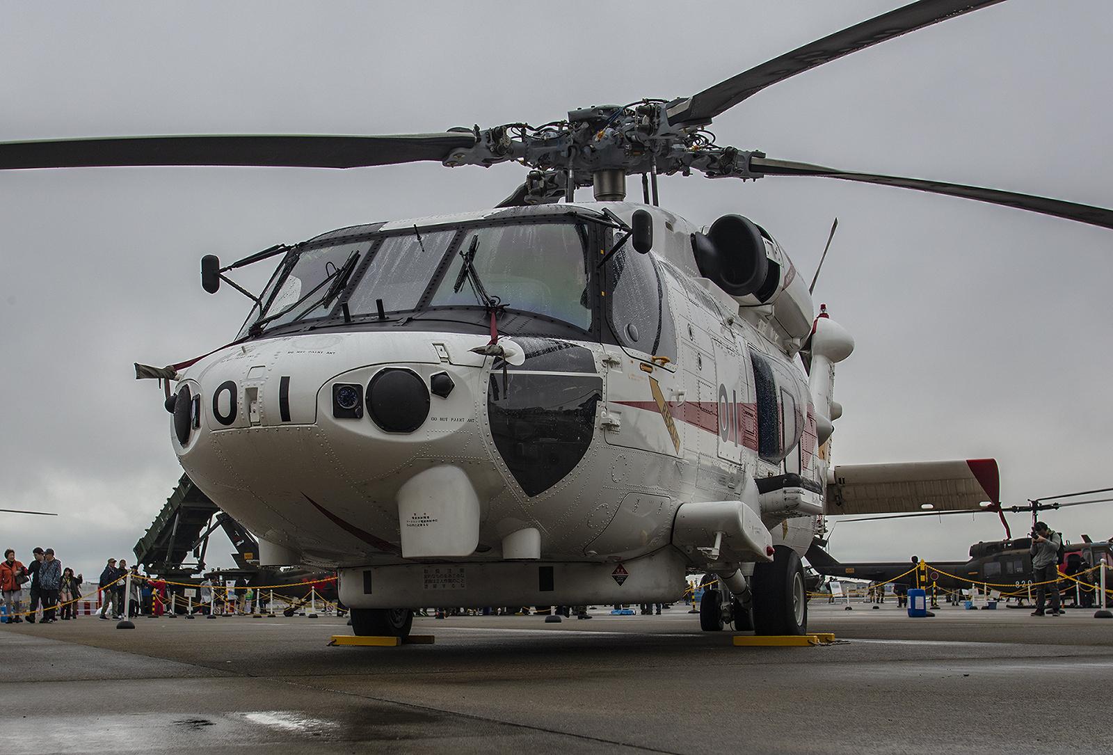 Die MH-60 von unten.