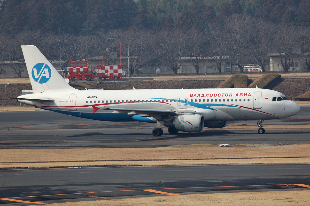 Leider ersetzen die A 320mittlerweile die Tu 204 auf dem Tokiokurs.