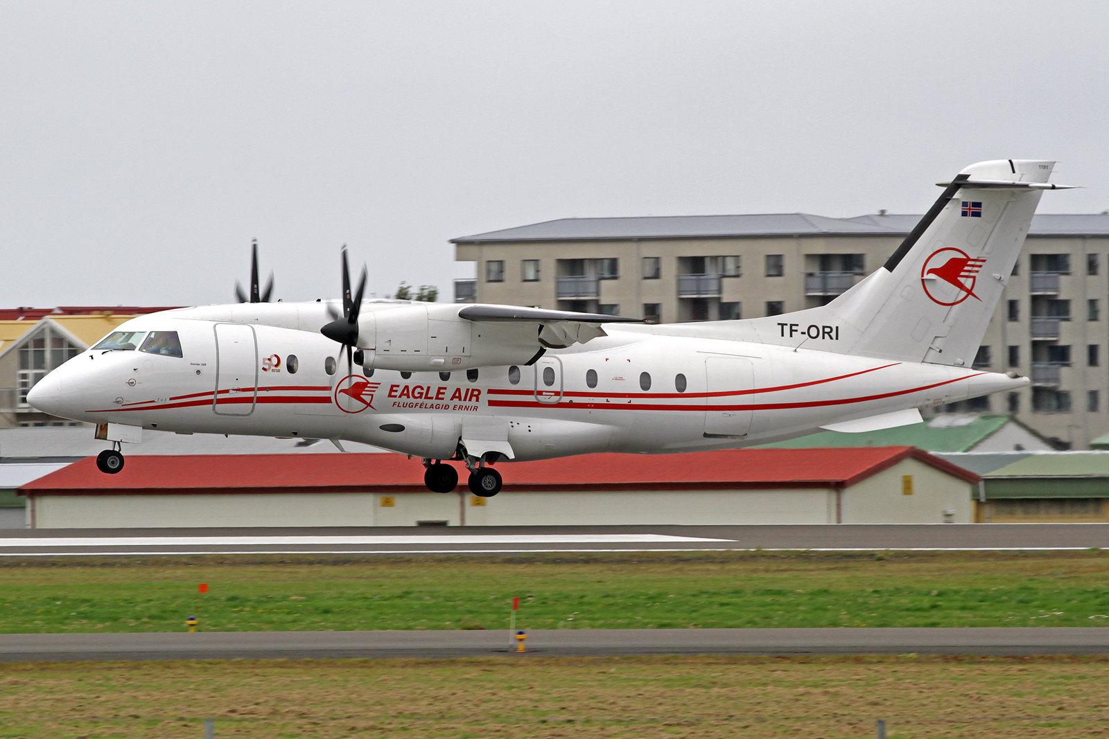 Eagle Air (Flugfélagið Ernir) Dornier 328-110 TF-ORI, RKV 10. August 2020.