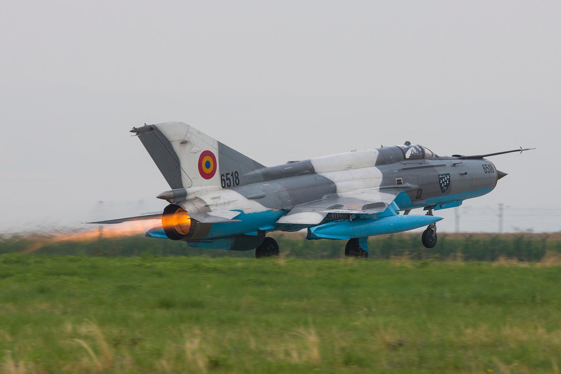 Auch die 6518 war vor der Umrüstung eine Mig-21MF-75, die ab 1975 an die rumänische Luftwaffe geliefert wurden.